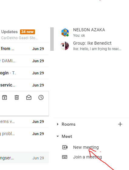 Google meet in gmail